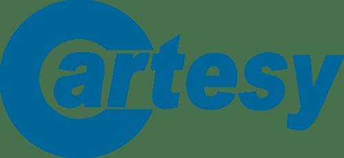 Cartesy Logo Blau auf weißem Hintergrund