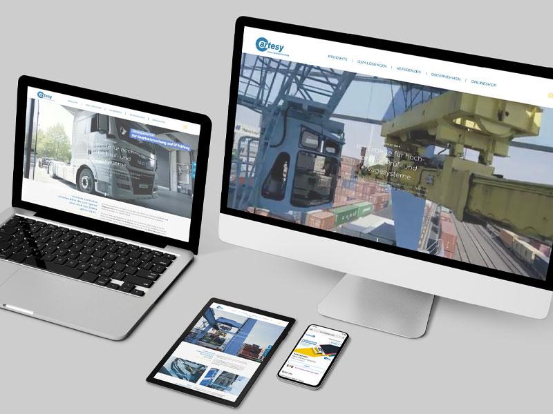 Cartesy Website Mockup