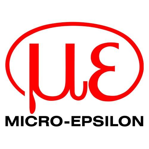Micro-Epsilon Logo auf weißem Hintergrund